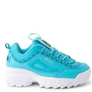Blue Fila Disruptor 2 Premium Athletic Shoes